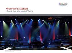 Vectorworks Spotlight 2010 Brochure